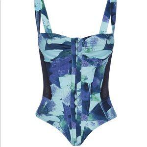 Miaou Deville Corset set - Azul